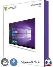 Windows 10 Professionnel 32/64 bits oem d'Activation Key Multilingual version complète