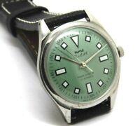 genuine hmt pilot hand winding 17 jewels men steel para shock vintage watch run