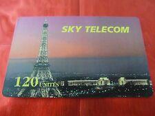 RARE TELECARTE - SKY TELECOM - TOUR EIFFEL PARIS - 120 UNITES - TTBE