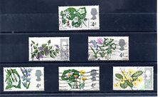 Gran Bretaña Flores serie del año 1967 (AT-502)