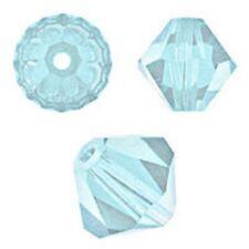 Swarovski Crystal Bicone. Aquamarine Color. 4mm. Approx. 144 PCS. 5328