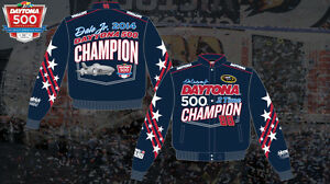 Men's Nascar Dale Earnhardt Jr Jacket Daytona 500 Champion Cotton Twill Coat