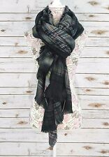 NWT Urban Outfitters Oversized Blanket Scarf Black Plaid