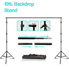 10' Extendable Photography Photo Studio Background Muslin Support System Stand