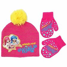 Shimmer And Shine Beanie Hat Mitten Gloves Set Girls Winter Hat Set Kids Cold