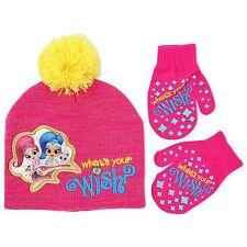 Shimmer And Shine Beanie Hat Mitten Gloves Set Girls Winter Hat Set Kids Cold