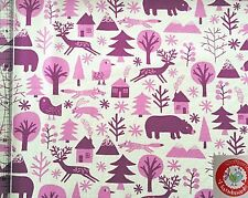 Sweat - Raik - Swafing - creme / pink / beere - Lila - Tiere / Bäume / Wald /Reh