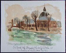 CLAIRIN PIERRE EUGENE : Lithographie signée et numerotée. Carte de vœux 1953, im