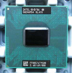 Intel Core 2 Duo T9500 CPU Processor 2.6 GHz FF80576GG0646M 800 MHz 100% work