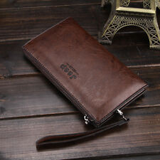 New Men Leather Wallets Hand Bag Wallet Clutch Bags Mujer Luxury Purse Clutch