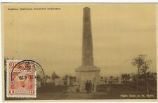 China Manchuria 1920s Japanese Monument card stamped, unposted