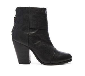 Rag & Bone Black Leather 'Newbury' Ankle Boots Size 6/ EU36 RRP: $650.00