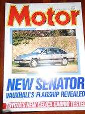 Motor 16/5/87 Toyota Celica Cabriolet