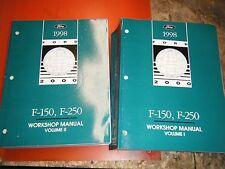 1998 FORD F 150 F-250 PICK UP ORIGINAL 2 VOLUME FACTORY SERVICE MANUALS CLEAN