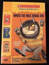 Scholastic (DVD 2004, 3-Disc Set) Where Wild Things Pete's Pizza Gorilla