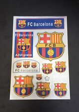 FC BARCELONA Stickers Set A4 Size Great For Car/Window /Home Use