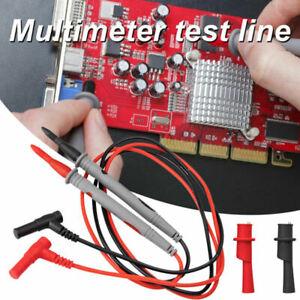 Multimeter Test Pen Leads Silicone Wire Cable Line+Crocodile Clip Accessory
