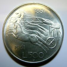 moneta 500 lire argento Centenario Unità d' Italia 1961  FDC