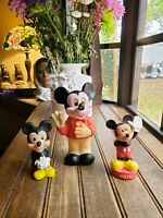 Lot of 3 Vintage Disney Mickey Mouse Squeaky TOY squeaker