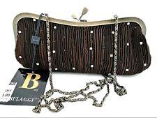 BULAGGI LADIES-WOMANS BROWN TEXTILE CLUTCH BAG