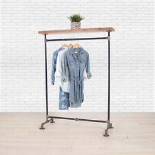 Industrial Pipe Clothing Rack With Cedar Wood Top Shelf William Roberts Vintage