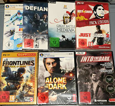 SPIELESAMMLUNG - 7 PC Games - Alone in the Dark Defiance Just Cause Frontlines
