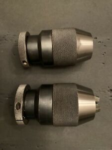 """Two Very Nice  Keyless Albrecht Chuck Lot 1/32""""-1/2"""" 1/8""""TO 5/8 """" You Get Both"""