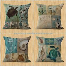 set of 4 cushion covers fish seahorse jellyfish octopus turtle modern decorative