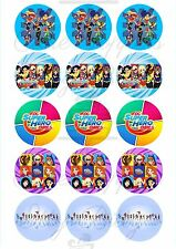 Edible Cupcake Toppers images DC SUPERHERO girls - Highest Australian Quality