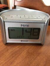 Ihome Silver Bluetooth Bedside Alarm Clock With Speakerphone $59.99