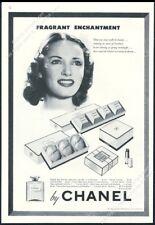 1943 Chanel No.5 perfume Gardenia soap powder lipstick vintage print ad