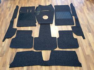 Black velours carpet set / kit for Alfa Romeo 2600 Sprint (Coupe)