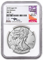 2018 American Silver Eagle NGC MS70 FR Mercanti Signed Label SKU51246