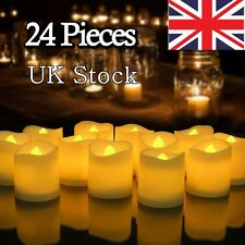 UK 24PCS LED Tea Light Candles Battery Flameless Tealights Wedding Decoration