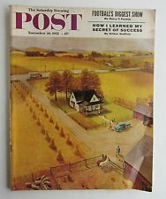 Saturday Evening Post Magazine Nov 26th 1955  Art Cover By John Clymer
