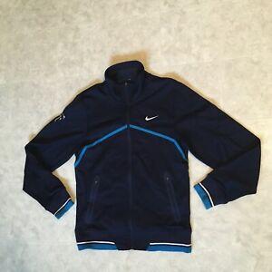 Nike Roger Federer Wimbledon Full Zip Jacket Size S 424947 451 Blue US Open Slam