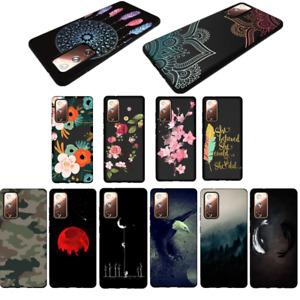 Handyhülle Für Samsung S20 FE Note 20 Ultra A51 A71 Silikon Schwarz Muster Case
