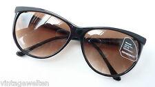 Eschenbach schwarze Damen Sonnenbrille Kunststoff Verlauftönung NEU size L