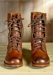 Mens Handmade Boots Military High Ankle Combat Formal Brown Leather Casual Shoes