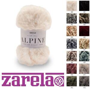 Sirdar Alpine Luxe Fur Effect Knitting Yarn Wool 50g