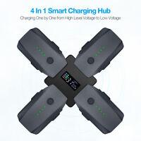 4-In-1 Rapid Battery Charger Multi Charging Hub For DJI Mavic Pro w/ LCD Display