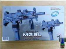 Airsoft Gun Double Eagle M35L Spring Uzi Style Pistol Laser + 200 6mm BB BBs