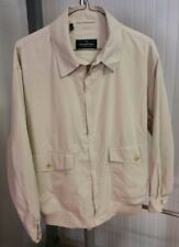 Ermenegildo Zegna Yachting Lightweight Windbreaker Coat Jacket Men's M Beige Tan
