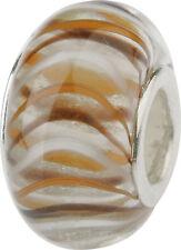 Charlot BORGEN cristal bola con silberkern GPS 19 Marrón Murano Bead