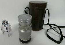 PHOTOGRAPHY : LEICA LEITZ M LENS : F = 9CM 1:4 NR. 1160734 & LEATHER CARRY CASE