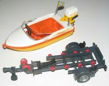 Playmobil Bateau Vedette + Remorque de Mise à L'eau NEW