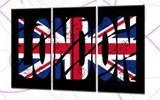 LONDON LETTERS 120x80cm 3 BILDER LEINWAND UK GREAT BRIT