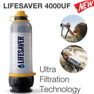 Sealed LIFESAVER ® 4000UF - Water Purification Ultra Filtration Bottle RRP £135✅