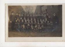School May 10th 1910 King's Proclamation RP Postcard Woburn Fenny Stratford 563b