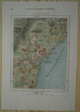 1875 Perron map BARCELONA & VICINITY, CATALONIA, SPAIN (#145)